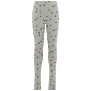 name it NKFDAVINA tyttöjen collegeleggingsit, Grey Melange