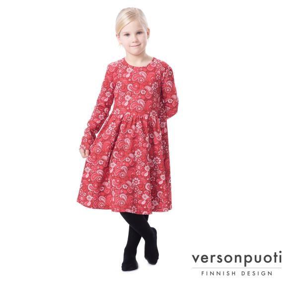 VERSON PUOTI KISSANKELLO-mekko, Ruusuhuivi Vadelma