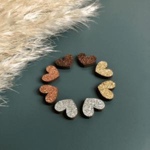 TUOKIO SOMA glitter nappikorvikset, Hopea