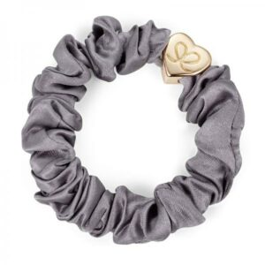 BY ELOISE Gold Heart Silk pompula, Grey