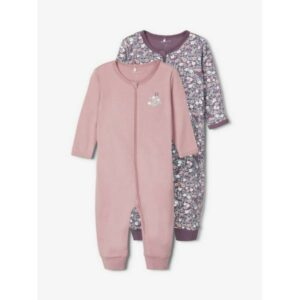 NAME IT NBFNIGHTSUIT yöhaalari 2kpl, Black Plum