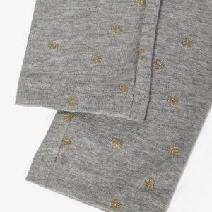 NAME IT NMFVIVIAN glitter leggingsit, Grey Melange