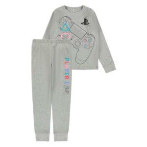 NAME IT NKMPLAYSTATION OLOF pyjamasetti, Grey Melange