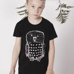 AARRE KID ph trikoopaita, Owls Black