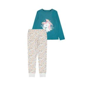 NAME IT NKFNIGHTSET UNICORN pyjama, Real Teal