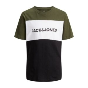 JACK & JONES JJELOGO BLOCKING t-paita, Forest Night