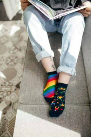 MANY MORNINGS aikuisten varrettomat ERIPARISUKAT, Over The Rainbow