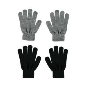 NAME IT NKNMAGIC sormikkaat 2kpl, Grey Melange/BLACK