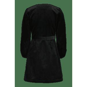 KAIKO aikuisten CORDUROY WRAP DRESS, Black